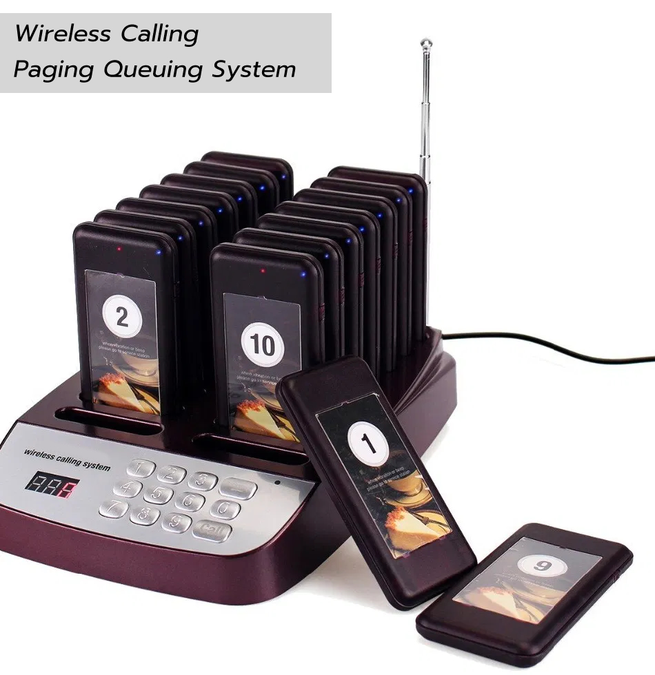 Wireless Paging Queuing System เครื่องเรียกคิวแบบไร้สาย 16 คิว