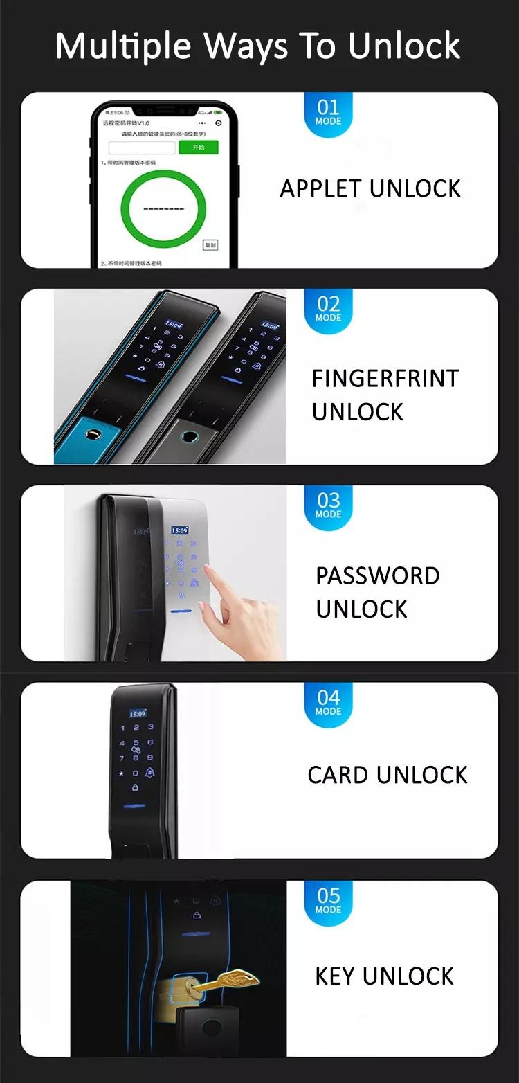 ประตูดิจิตอลสแกนลายนิ้วมือ ควบคุมผ่านสมาร์ทโฟน Winmax D704B