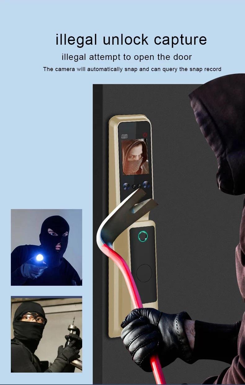 ประตูดิจิตอลล็อค สแกนหน้า สแกนลายนิ้วมือ Winmax D801