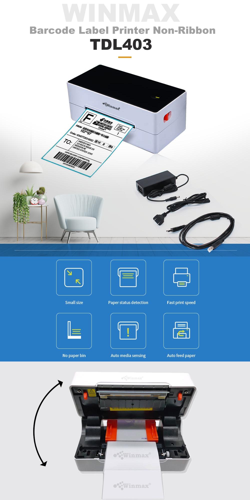 เครื่องพิมพ์ฉลากบาร์โค้ด Label Printer Winmax-TDL403